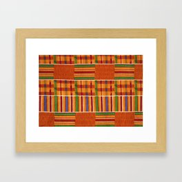Ethnic African Kente Cloth Pattern Framed Art Print