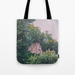 Forest Cliffs Tote Bag