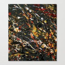 Jackson Pollock Interpretation 2017 Canvas Print