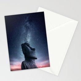 Moai statue Stationery Cards