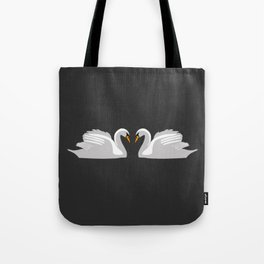moonlight swans Tote Bag
