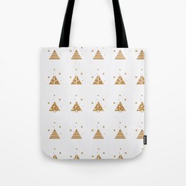 Abstract Trees Winter Pattern White Tote Bag