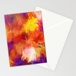 Composition #58 (purple, yellow and red) Stationery Cards