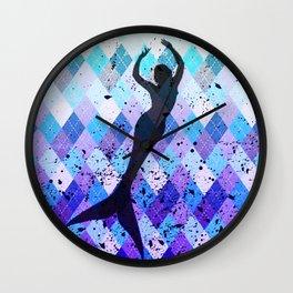 Mermaid Silhouette 2 Wall Clock
