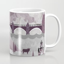 Edinburgh Travel Poster Illustration Coffee Mug