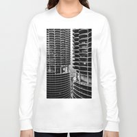 buildings Long Sleeve T-shirts featuring Bertrand's Buildings by NickGerber