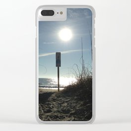 Sun shadows Clear iPhone Case