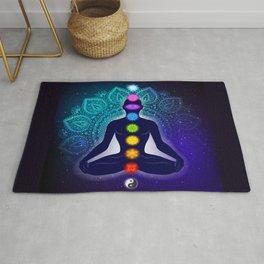 Meditating in Lotus Pose Rug