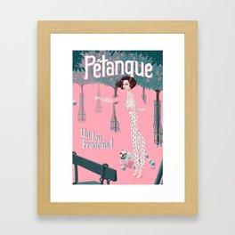 Pétanque Framed Art Print