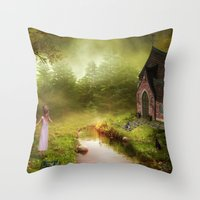 fairy tale Throw Pillows featuring Fairy Tale by Susann Mielke