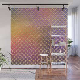 Bling Purple & Pink Pattern Wall Mural