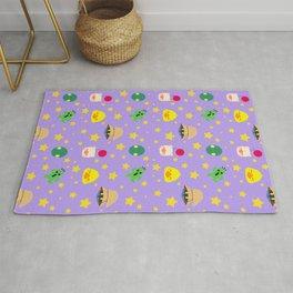 final fantasy pattern lilac Rug
