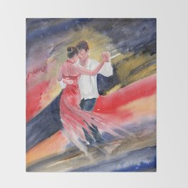 Love and Tango 2 Throw Blanket