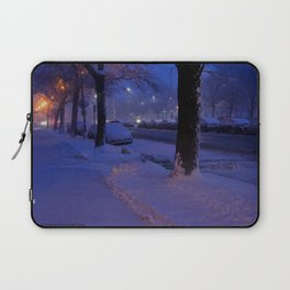 Chicago Snow: All is Calm (Chicago Winter Collection) Laptop Sleeve