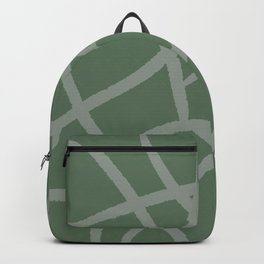 green giraff print Backpack