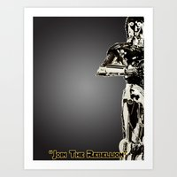 c3po Art Prints featuring C3PO by KL Design Solutions