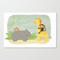 safari Canvas Prints featuring Safari by Liz Urso