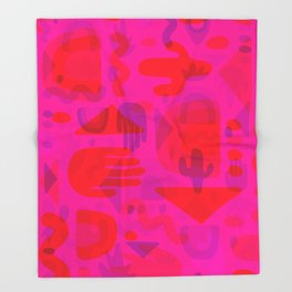Neon Cutout Print Throw Blanket