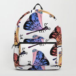 pink and red butterflies Backpack