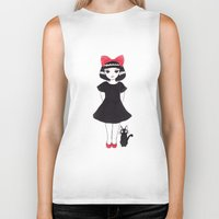 kiki Biker Tanks featuring Kiki and Jiji by Wondering Lolita by Naeema Krishna
