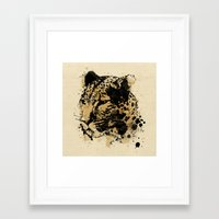 leopard Framed Art Prints featuring Leopard by DIVIDUS