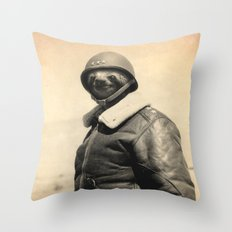 General Sloth Throw Pillow