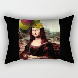 Mona Lisa Birthday Girl Rectangular Pillow