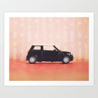 mini cooper Art Prints featuring Mini Cooper by Anna Dykema Photography