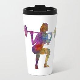 Body buiding woman isolated Travel Mug