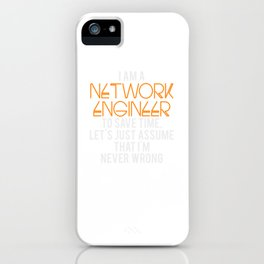 Network Engineer Gift Funny Engineering Computer Science iPhone Case