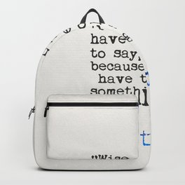 Plato quote Backpack