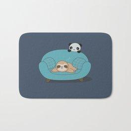Kawaii Cute Panda And Sloth Bath Mat