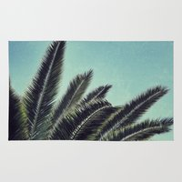 palms Area & Throw Rugs featuring Palms by RichCaspian