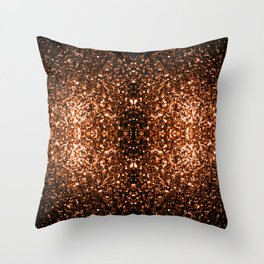 Beautiful Bronze Orange Brown glitters sparkles Throw Pillow