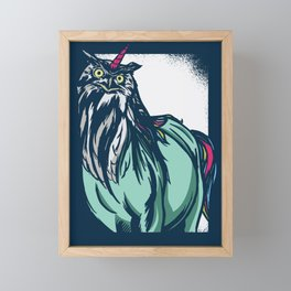 Owl Unicorn Framed Mini Art Print