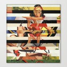 Glitch Pin-Up Redux: Lindsey Canvas Print
