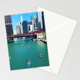 Chicago River Kayaks Stationery Cards