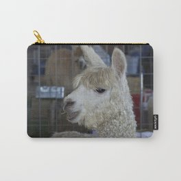 White Alpaca Carry-All Pouch