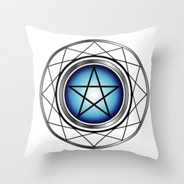 Glowing Pentagram Throw Pillow