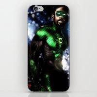 john green iPhone & iPod Skins featuring John Stewart : The Green Lantern by André Joseph Martin
