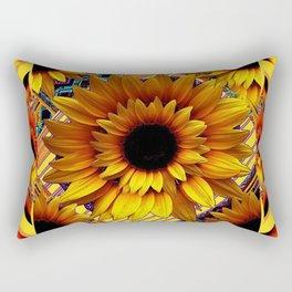 AWESOME GOLDEN SUNFLOWERS  PATTERN ART Rectangular Pillow