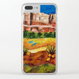 Courthouse Butte Rock, Sedona Arizona Clear iPhone Case