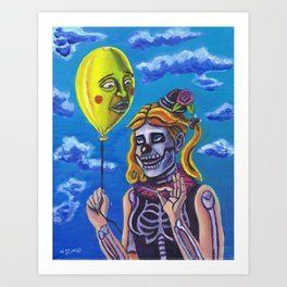 Death is a Funny Thing Art Print