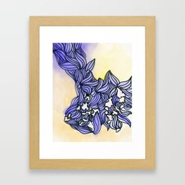 Purple Waves watercolor Framed Art Print
