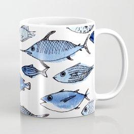 Aquarium blue fishes Coffee Mug