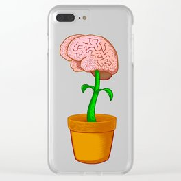 And the Brain grows on Clear iPhone Case
