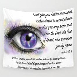 Galaxy eye - Isaiah 45, 3 Wall Tapestry