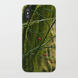 Red in the Forest iPhone Case