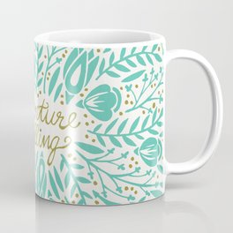 Adventure is Calling – Turquoise & Gold Palette Coffee Mug