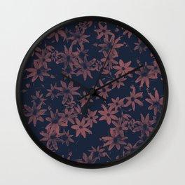 Flowers at Dawn Wall Clock